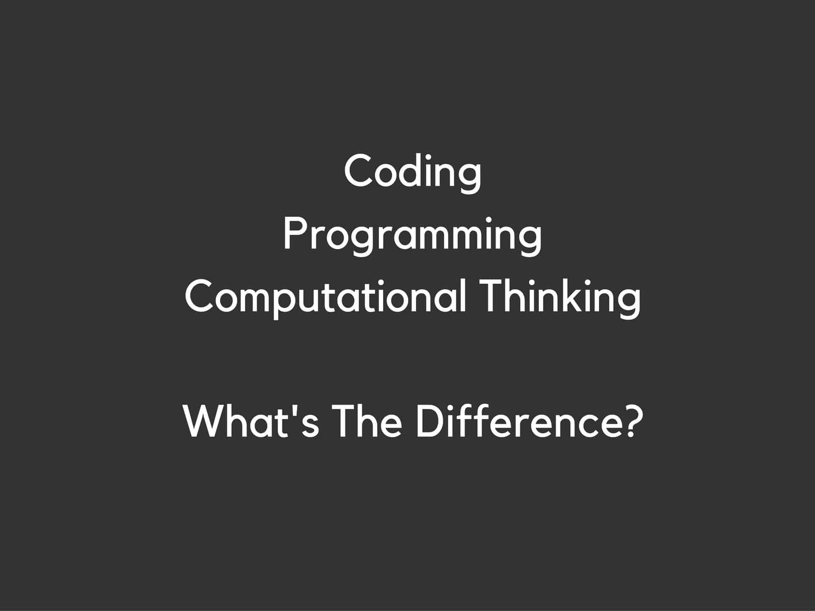 Coding Programming Computational Thinking
