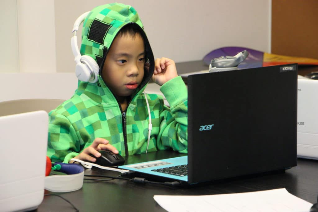 Cool coding kid
