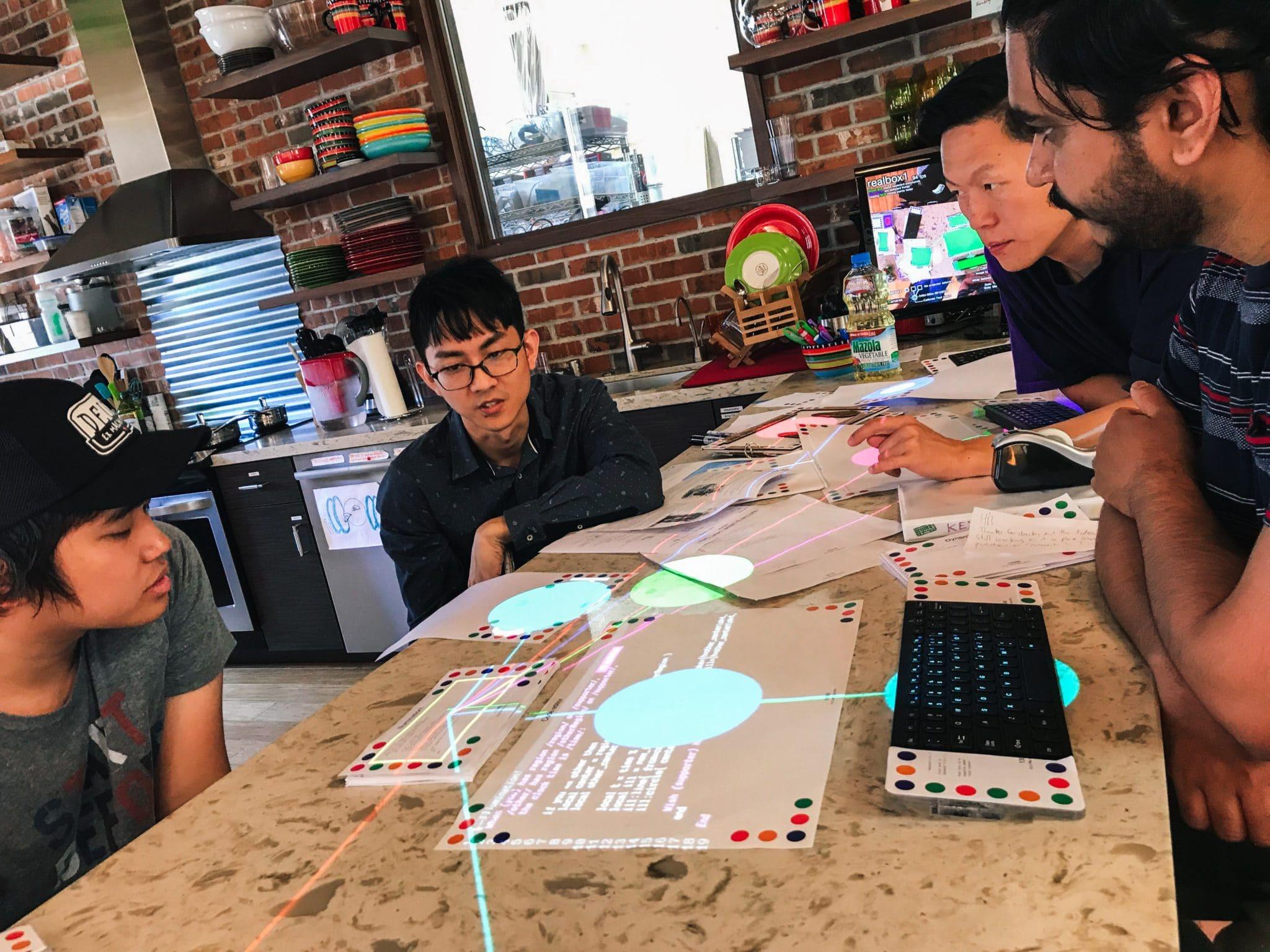 Saturday Kids team gets a lowdown on how Dynamicland works